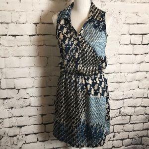 Mystree Alexio Mixed Print Dress